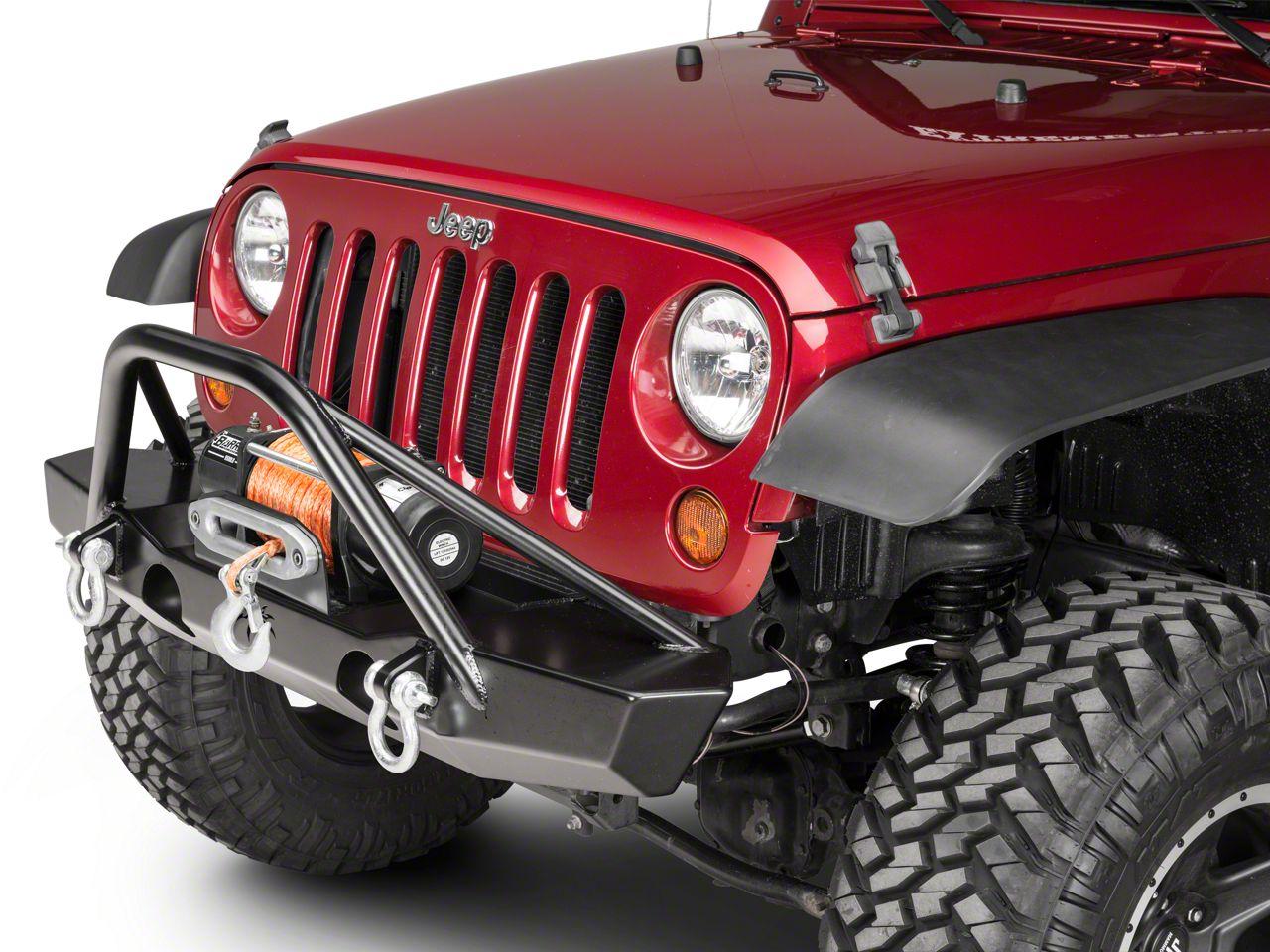 Poison Spyder Brawler MID Width Front Bumper w/ Brawler Bar - SpyderShell Armor Coat (07-18 Jeep Wrangler JK)