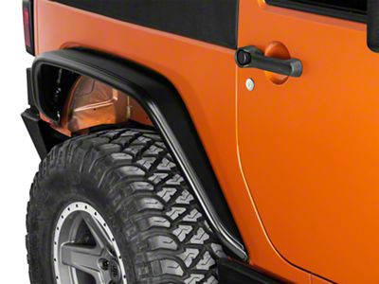 Poison Spyder Crusher Rear Fender Flares - Standard Width - SpyderShell Armor Coat (07-18 Jeep Wrangler JK)