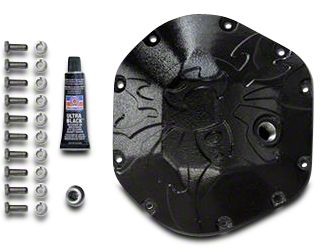 Poison Spyder Dana 44 Bombshell Differential Cover - Black (97-18 Jeep Wrangler TJ & JK)