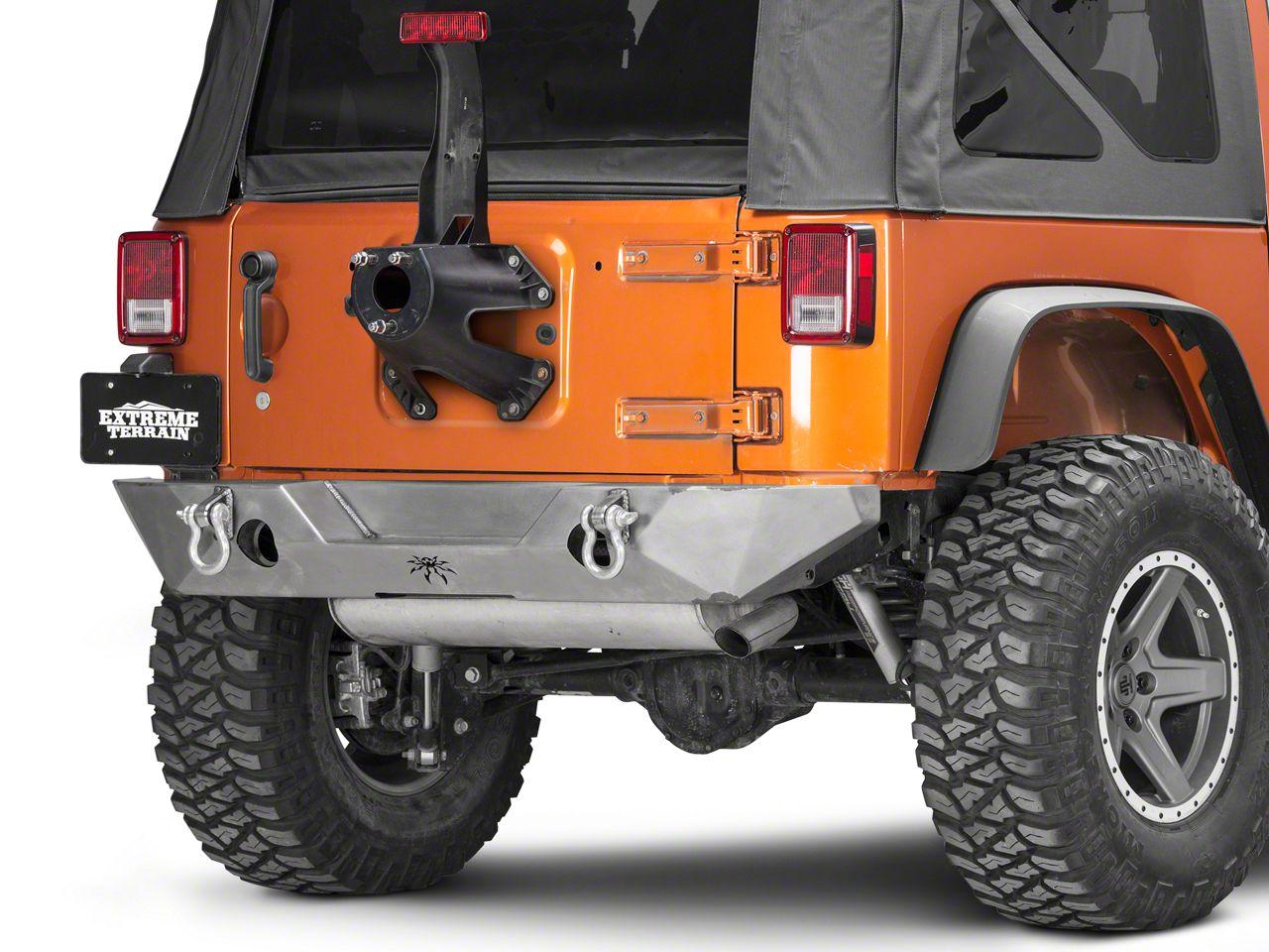 Poison Spyder RockBrawler Rear Bumper - Bare Steel (07-18 Jeep Wrangler JK)