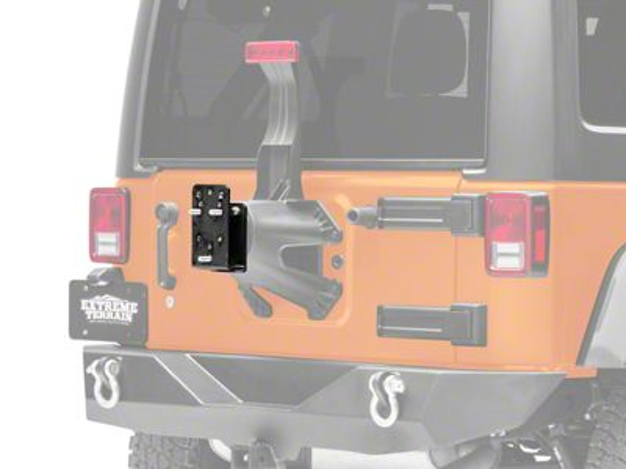 Smittybilt Tire Relocation Bracket - Clear Up to 35 in. Tire (87-18 Jeep Wrangler YJ, TJ & JK)