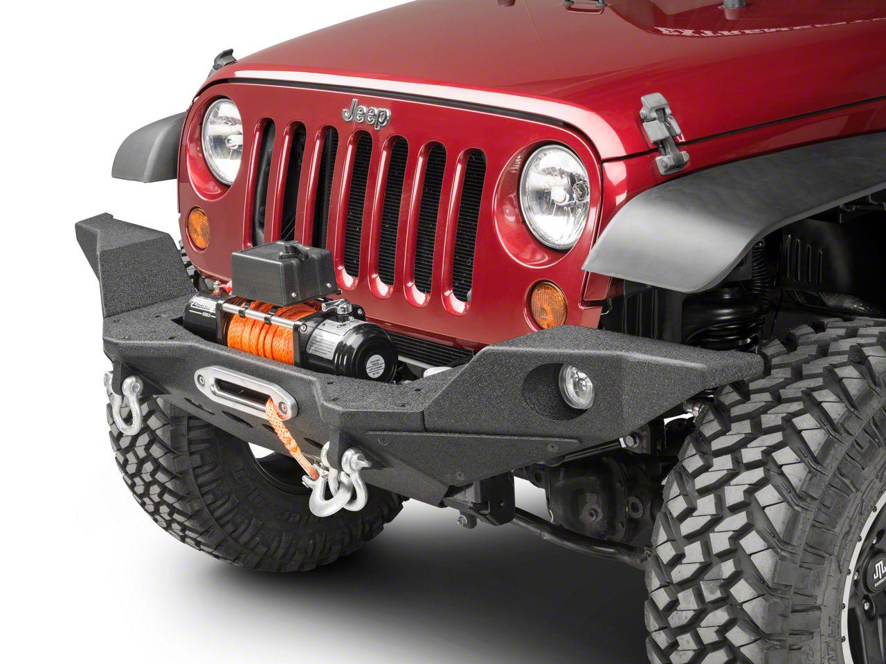 Smittybilt XRC M.O.D. Full Width End Caps - Textured Matte Black (07-18 Jeep Wrangler JK; 2018 Jeep Wrangler JL)