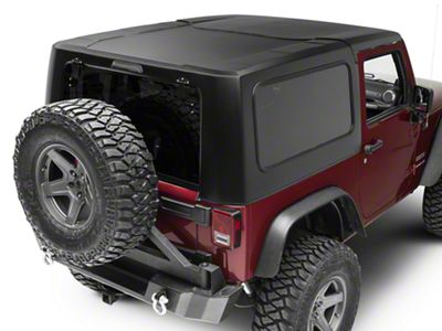 Smittybilt 2-Piece Hard Top - Textured Black (07-18 Jeep Wrangler JK 2 Door)