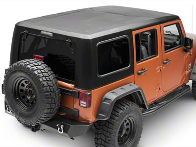 Smittybilt 2-Piece Hard Top - Textured Black (07-18 Jeep Wrangler JK 4 Door)