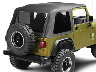 Smittybilt Bowless Combo Soft Top w/ Tinted Windows (97-06 Jeep Wrangler TJ, Excluding Unlimited)