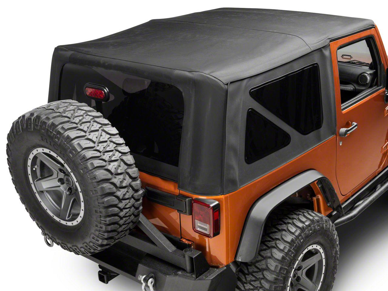 Smittybilt Premium Replacement Soft Top w/ Tinted Windows (07-18 Jeep Wrangler JK 2 Door)
