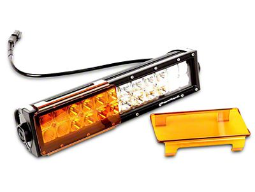 Rugged Ridge 13.5 in. LED Light Bars w/ Windshield Mounted Light Bar & Amber Light Covers (07-18 Jeep Wrangler JK; 2018 Jeep Wrangler JL)
