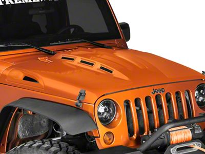 DV8 Off-Road Heat Dispersion Vented Hood - Unpainted (07-18 Jeep Wrangler JK)