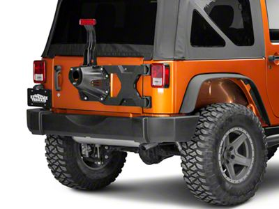 Barricade HD Tire Carrier for OEM Tire Mount (07-18 Jeep Wrangler JK)