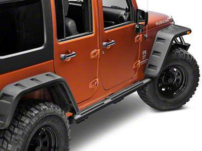 Mopar Tubular Side Step Bars - Black (07-18 Jeep Wrangler JK 4 Door)