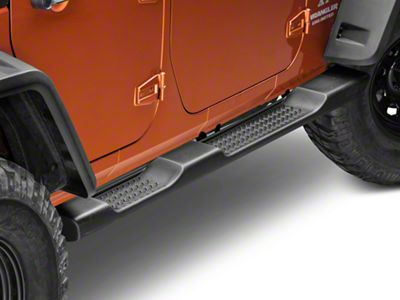 Mopar Factory Style Molded Side Step Bars - Black (07-18 Jeep Wrangler JK 4 Door)