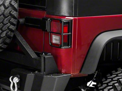 Mopar Tail Light Guards - Satin Black (07-18 Jeep Wrangler JK)