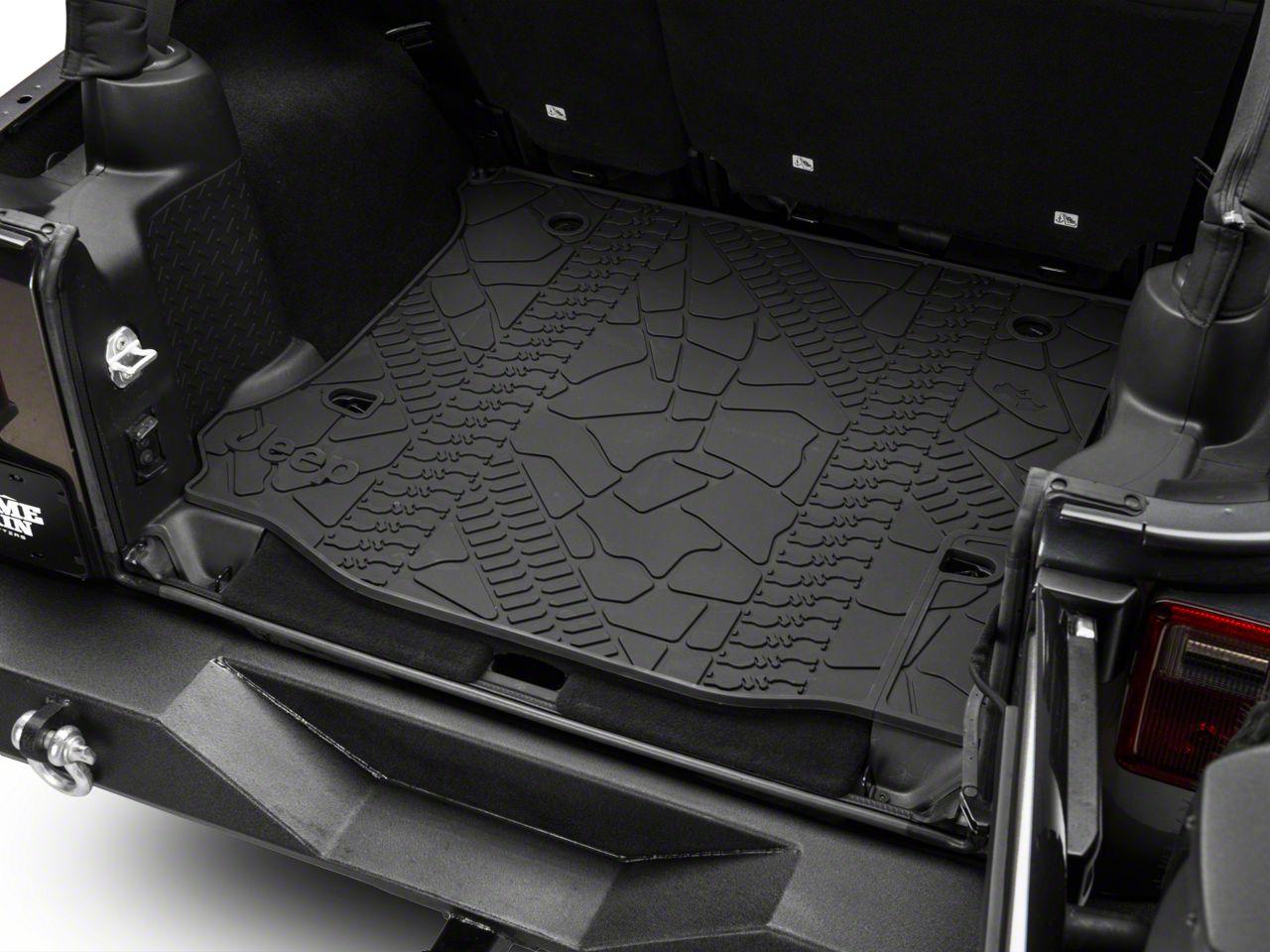 Mopar Cargo Liner w/o Subwoofer Cutout (12-18 Jeep Wrangler JK 4 Door)