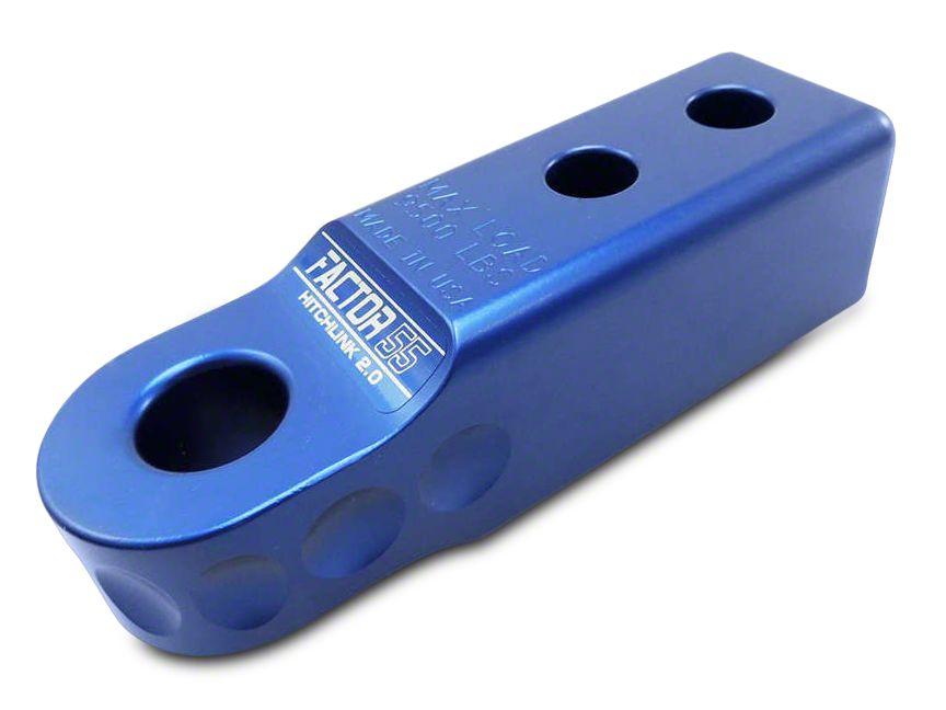 Factor 55 Aluminum HitchLink 2.0 - Blue (87-18 Jeep Wrangler YJ, TJ, JK & JL)