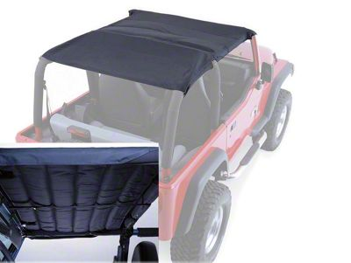 Rugged Ridge Acoustic Island Topper Soft Top - Black Denim (97-06 Jeep Wrangler TJ)