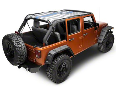 JTopsUSA Safari Mesh Top - Thin Blue Line (07-18 Jeep Wrangler JK 4 Door)