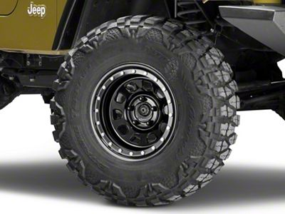 Pro Comp Wheels Steel Series 252 Street Lock Gloss Black Wheel - 15x8 (87-06 Jeep Wrangler YJ & TJ)