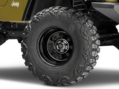 Pro Comp Steel Series 97 Rock Crawler Gloss Black Wheel - 15x10 (87-06 Jeep Wrangler YJ & TJ)