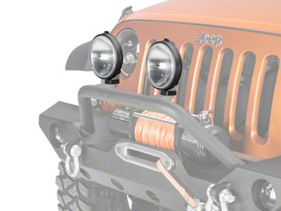 Delta 150 Series Driving Light Kit - 55 Watt Xenon - Pair (87-18 Jeep Wrangler YJ, TJ, JK & JL)