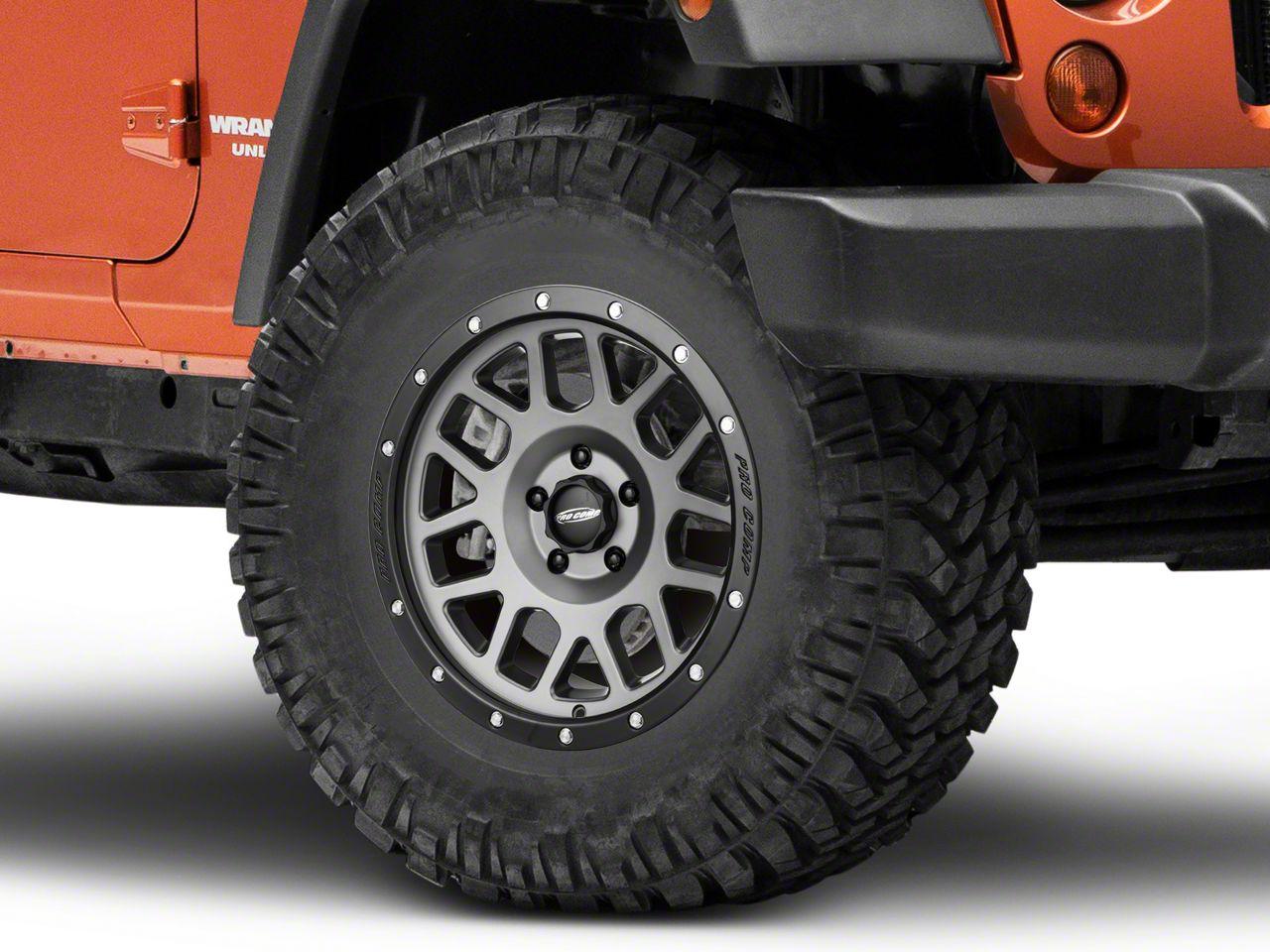 Pro Comp Alloy Series 40 Vertigo Matte Graphite Wheel - 17x9 (07-18 Jeep Wrangler JK)