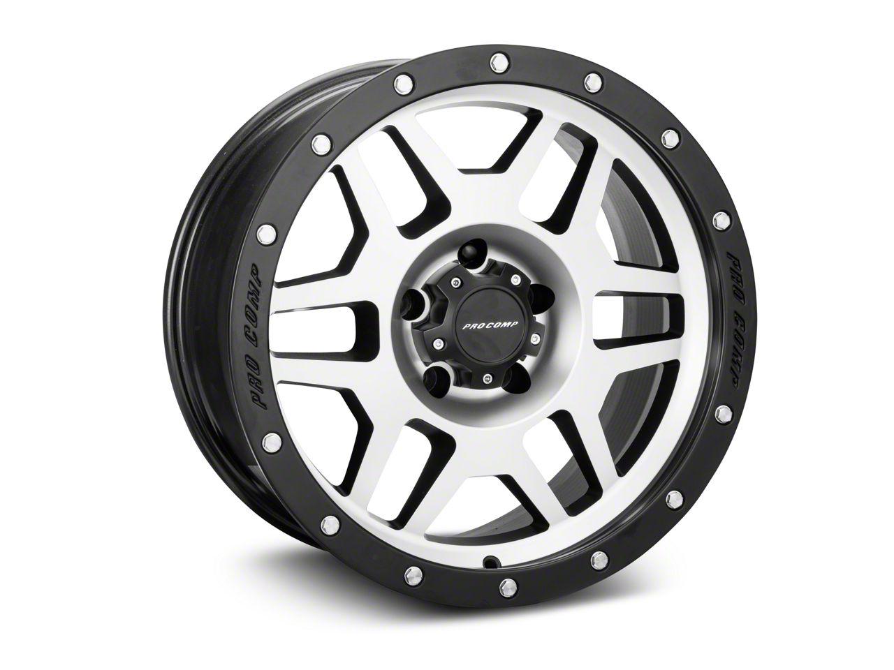Pro Comp Alloy Series 41 Phaser Black Machined Wheel - 18x9 (07-18 Jeep Wrangler JK)