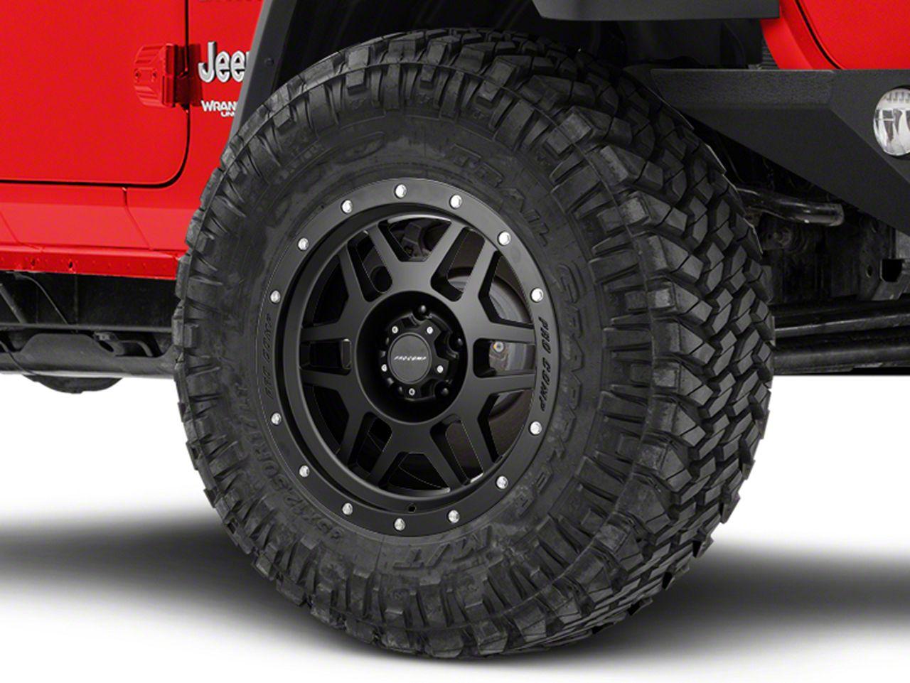 Pro Comp Wheels Alloy Series 41 Phaser Satin Black Wheel - 18x9 (18-19 Jeep Wrangler JL)