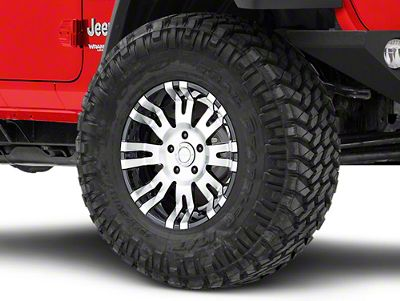 Pro Comp Alloy Series 01 Gloss Black Machined Wheel - 17x9 (18-19 Jeep Wrangler JL)
