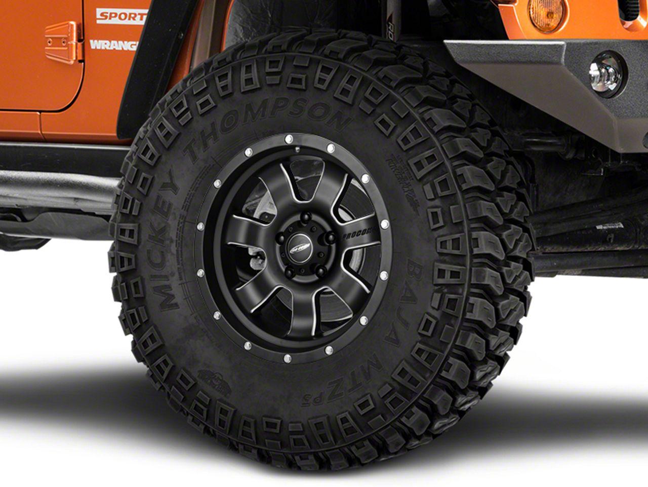 Pro Comp Alloy Series 39 Inertia Satin Black Milled Wheel - 17x9 (07-18 Jeep Wrangler JK; 2018 Jeep Wrangler JL)