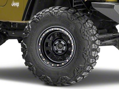 Pro Comp Steel Series 252 Street Lock Gloss Black Wheel - 16x8 (87-06 Jeep Wrangler YJ & TJ)