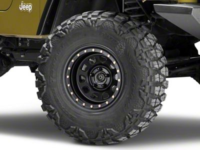 Pro Comp Steel Wheels Steel Series 252 Street Lock Flat Black Wheel - 15x8 (87-06 Jeep Wrangler YJ & TJ)