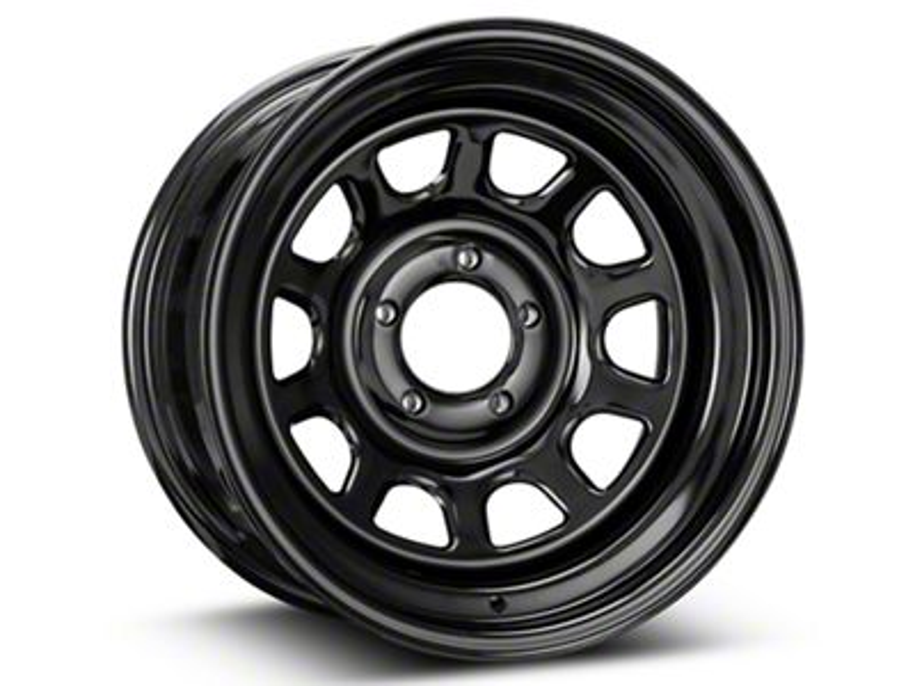 Pro Comp Wheels Steel Series 52 Rock Crawler Gloss Black Wheel - 16x8 (87-06 Jeep Wrangler YJ & TJ)