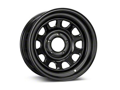 Pro Comp Steel Series 52 Rock Crawler Gloss Black Wheel - 15x7 (87-06 Jeep Wrangler YJ & TJ)