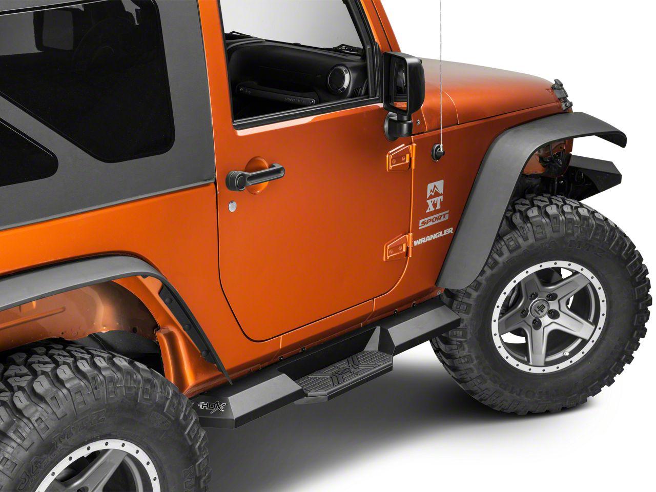 Westin HDX Xtreme Boards - Textured Black (07-18 Jeep Wrangler JK 2 Door)