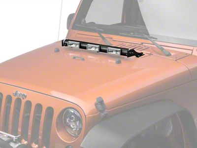 Delta Tubular LED E-Hood Bar (07-18 Jeep Wrangler JK)