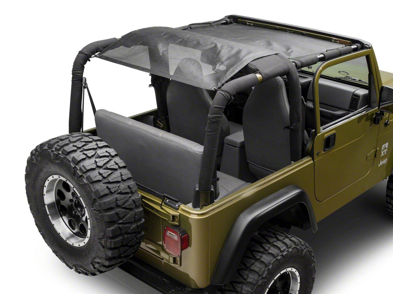Smittybilt Cloak Extended Mesh Top - Black (97-06 Jeep Wrangler TJ)