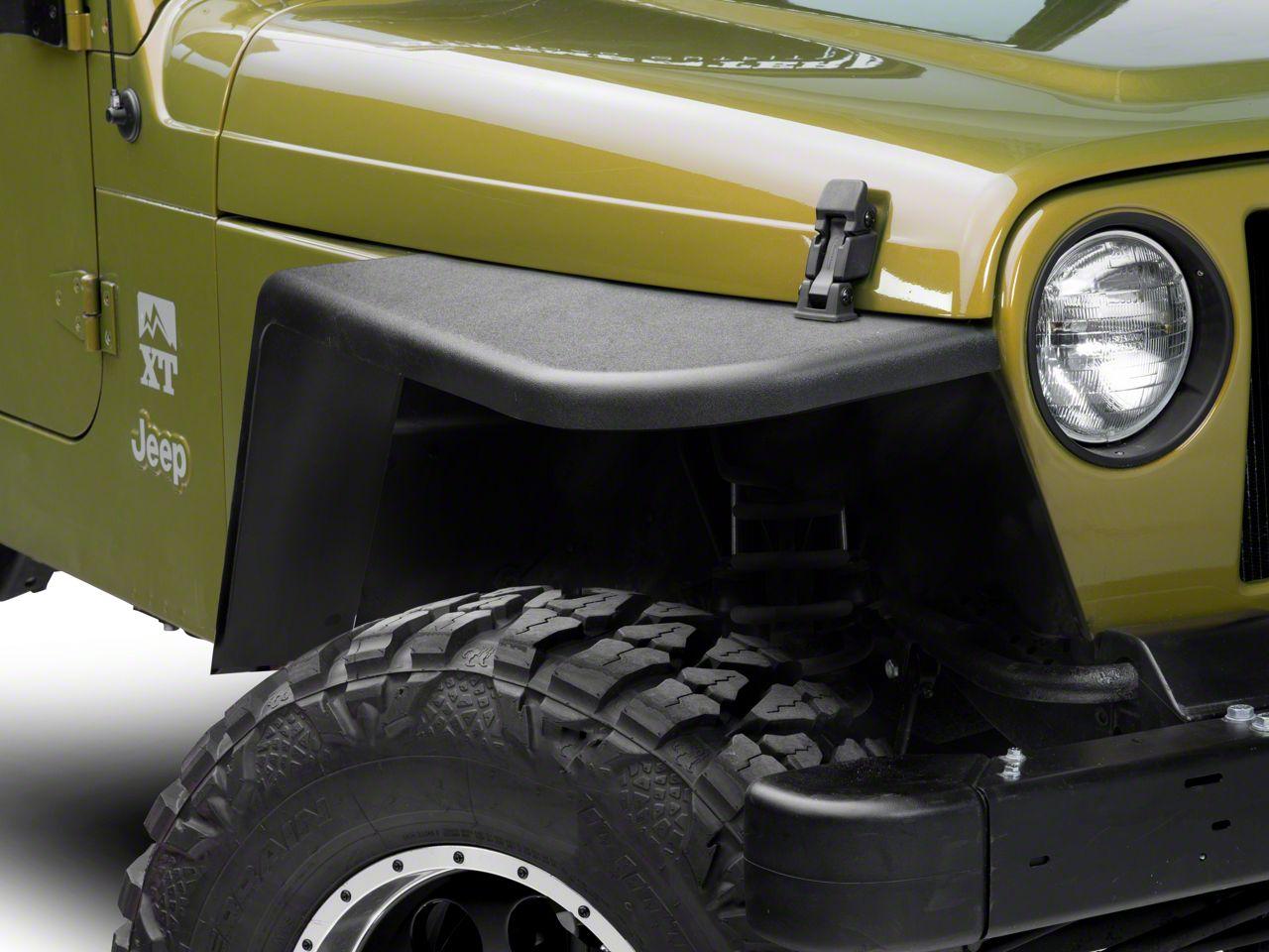 MCE Gen II 6 in. Flat Fender Flares - OE-Style Finish (97-06 Jeep Wrangler TJ)