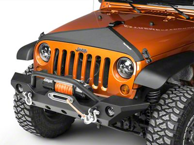 Rugged Ridge Hood Bra - Black (07-18 Jeep Wrangler JK)