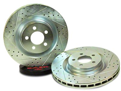 Baer Sport Drilled & Slotted Rotors - Front Pair (07-18 Jeep Wrangler JK)