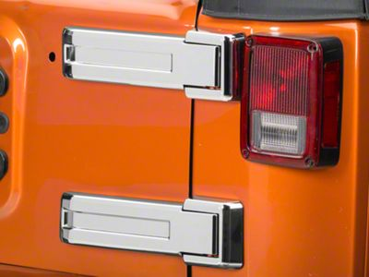 Putco ABS Rear Hinge Cover - Chrome (08-18 Jeep Wrangler JK)