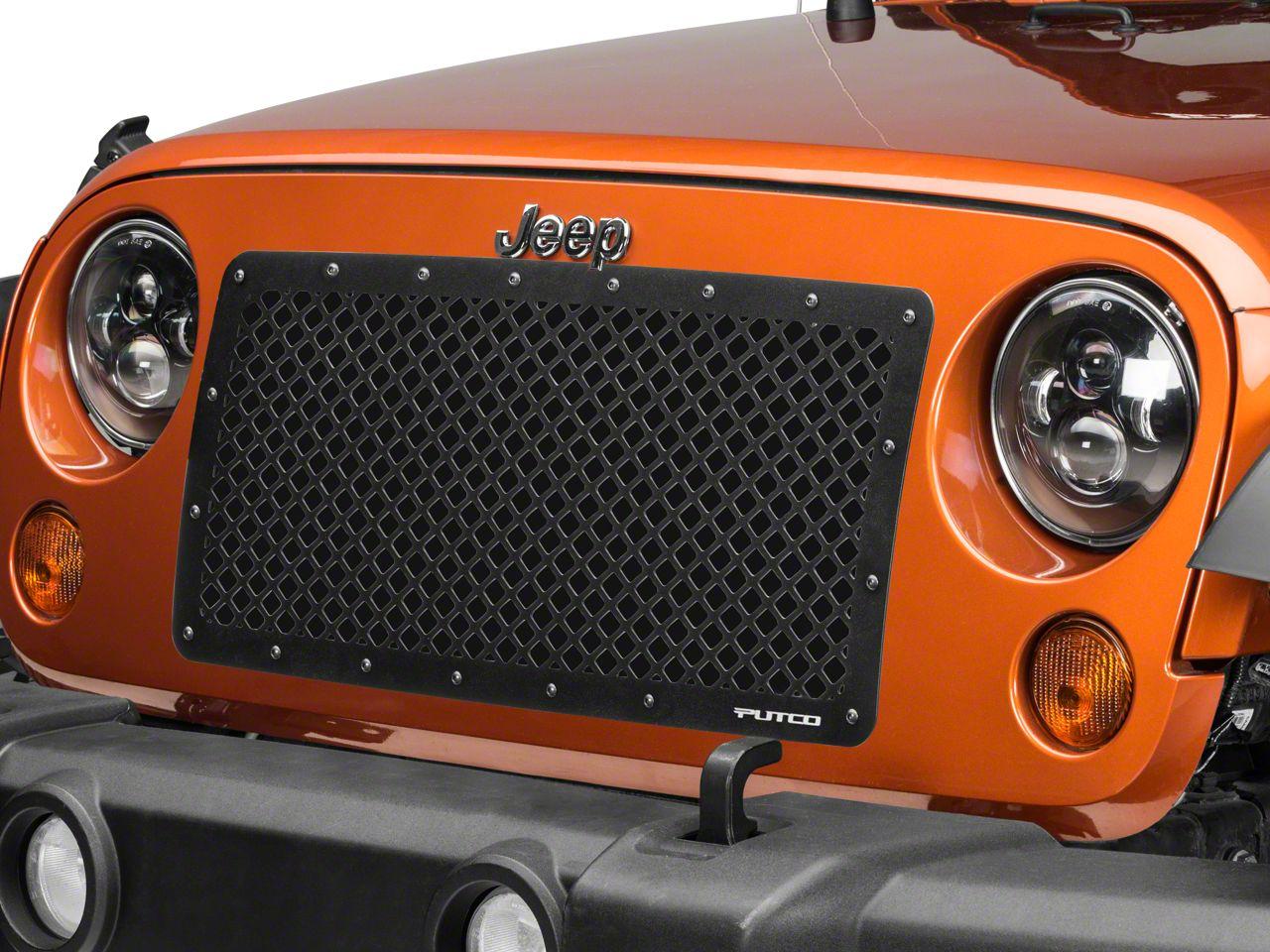 Putco Designer FX Replacement Grille - Black (07-18 Jeep Wrangler JK)