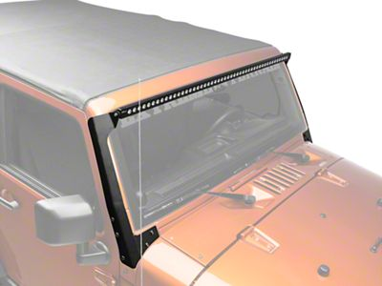 Putco 50 in. Luminix LED Light Bar w/ Windshield Mounting Brackets (07-18 Jeep Wrangler JK)