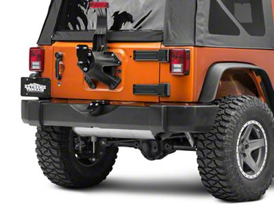 SkyJacker Tailgate Saver Spare Tire Support & Spare Tire Relocation Combo Kit (07-18 Jeep Wrangler JK)