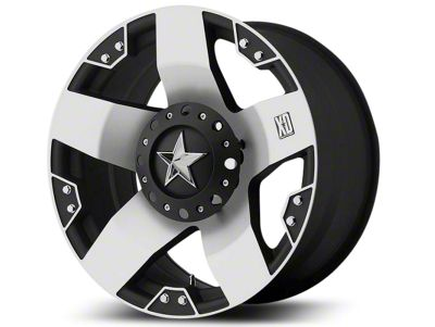 Rockstar XD775 Black Machined Wheel - 18x9 (07-18 Jeep Wrangler JK; 2018 Jeep Wrangler JL)