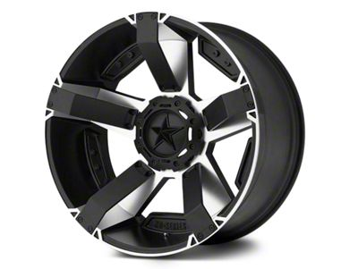 Rockstar XD811 RS2 Black Machined Wheel - 18x9 (07-18 Jeep Wrangler JK; 2018 Jeep Wrangler JL)