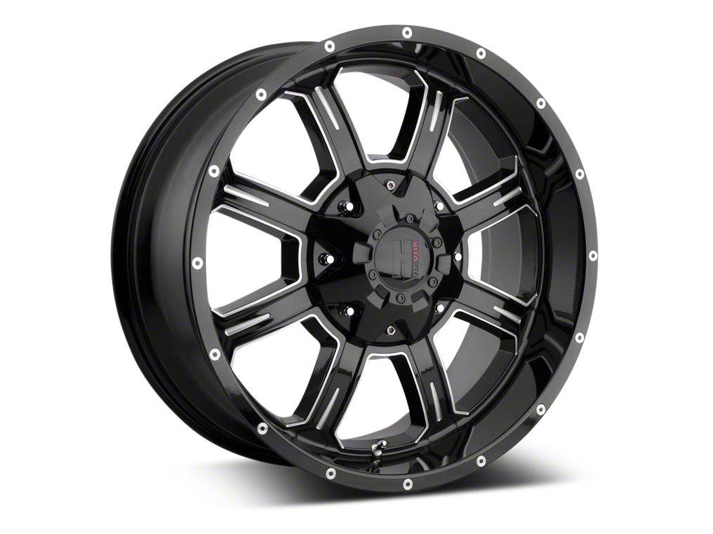 Havok Off-Road H-101 Black Machined Wheel - 20X9 (07-18 Jeep Wrangler JK)