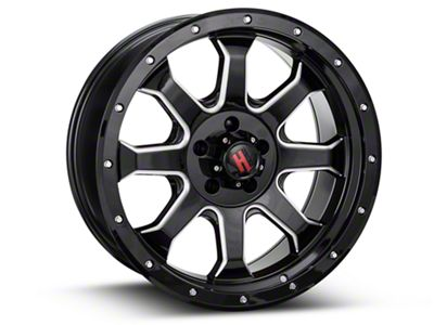 Havok Off-Road H-105 Black Machined Wheel - 20X9 (18-19 Jeep Wrangler JL)
