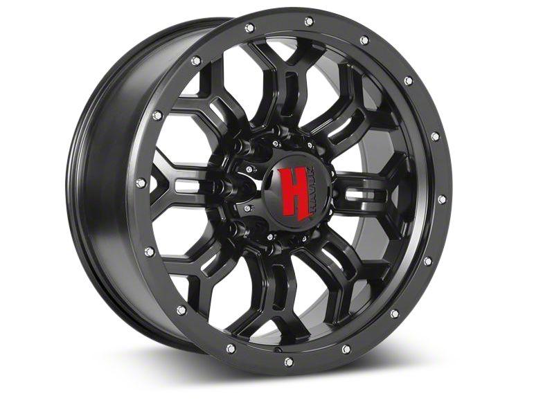 Havok Off-Road H-108 Matte Black Wheel - 20X9 (07-18 Jeep Wrangler JK)