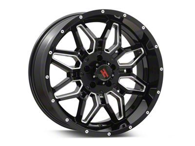 Havok Off-Road H-109 Black Machined Wheel - 20X9 (07-18 Jeep Wrangler JK)