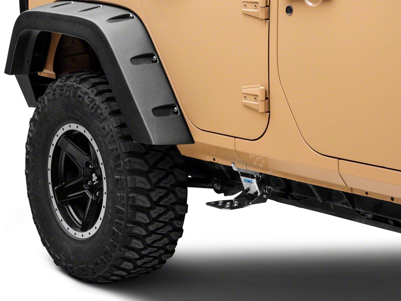 M.O.R.E. Rear Hide-A-Step - Silver (07-18 Jeep Wrangler JK 4 Door)