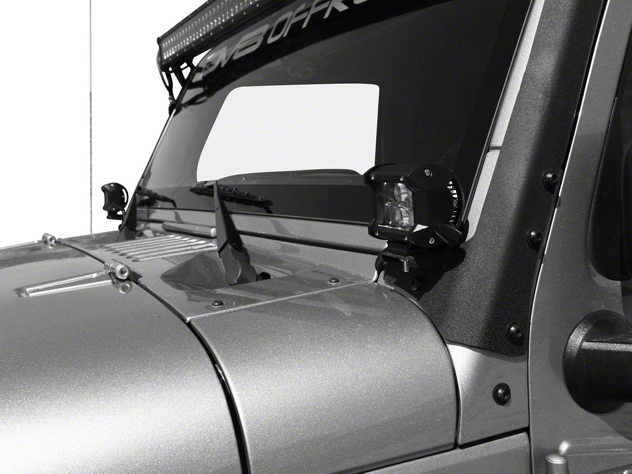 DV8 Off-Road 4 in. Chrome Series LED Cube Light - Spot Beam